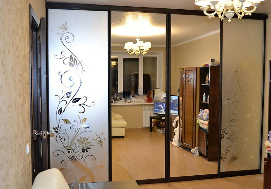 вижу, встроенный шкаф зеркальный фото с рисунком пырея