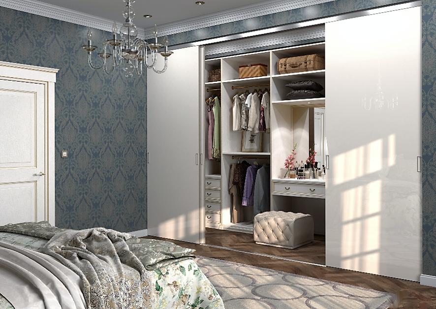 шкафы в спальню фото внутри стен вариант для смелых